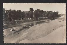 """COSNE-sur-LOIRE (58) TENTE de PLAGE & KAYAK """"LOCATION DE CANOTS"""" animé en 1950"""