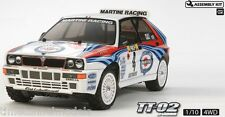 TAMIYA 58570 LANCIA DELTA INTEGRALE 4x4 RC Kit-Deal Bundle avec Twin Stick Radio