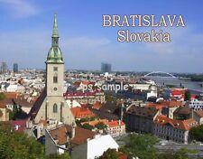 Slovakia - BRATISLAVA Travel Souvenir Flexible Fridge Magnet