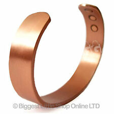 XL Mens Chunky Magnetic Copper Bracelet  6 Hi  Strength Magnet Healing 12mm Cuff