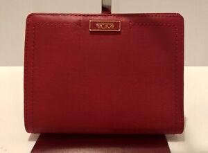 Tumi Parker Leather Passport Case Chili Red