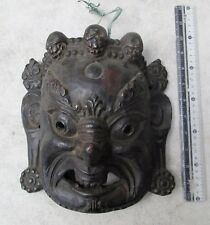 MAGNIFICENT Old Tibet Tibetan Wood Shaman Exorcism Mask Yama God of Death