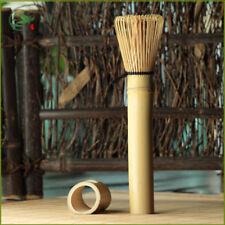 Golden Bamboo Matcha Whisk Long Handle Chasen Matcha Green Tea Powder Whisk