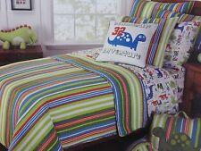 3 pc Frolics Dinosaur Full / Queen Quilt, Sham, & Dino Decorative Pillow NIP