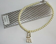 Anne Boleyn (Ugly Betty) Pearl Necklace, Gold Plated B, Gift Boxed