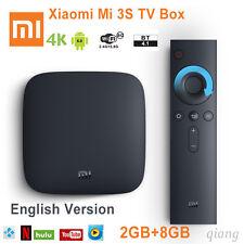 Xiaomi Mi TV Box 3 3S 4K HDR Andiord 6 Quad-Core 2GB+8GB Kodi English MDZ-19-AA