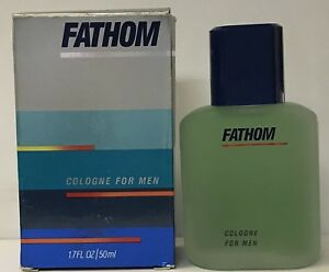 Fathom by MEM Cologne 1.7 fl oz / 50 ml Vintage box bent and stickered
