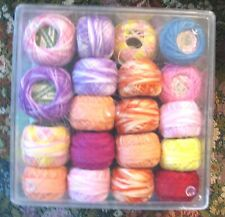 Mixed lot 35 spools assorted Tatting Crochet Thread multi color variegated New