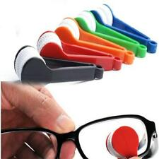 Portable Mini Glasses Eyeglass Sunglasses Spectacles Microfiber Cleaner Brush