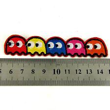 Pacman 1980's Kids  Iron sew on Patch clothes dressmaking applique