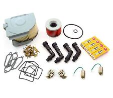 Deluxe Tune Up Kit - Plugs Caps Air Oil Filter Points Carb Kits - Honda CB400F