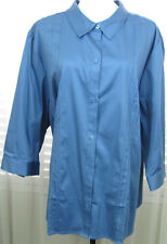 MAGGIE BARNES Size 3x 26-28 New With Tags Blue Button Down Shirt
