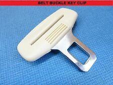 RENAULT CREAM SEAT BELT ALARM BUCKLE KEY CLIP SAFETY CLASP STOP