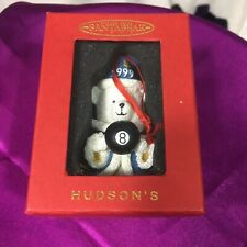 HUDSON'S 1999 SANTA BEAR with MAGIC 8 BALL