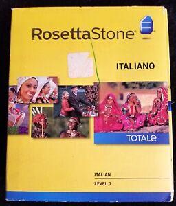 ROSETTA STONE - ITALIAN ITALIANO TotalE SET Level 1 Version 4 SEALED BOX