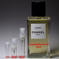 Chanel Les Exclusifs JERSEY Eau De Parfum - SAMPLE 1ml 2ml 5ml Perfume