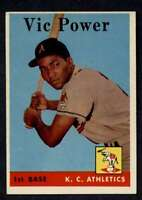 1958 Topps #406 Vic Power NM+ Athletics UER A3047