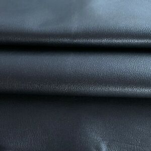 Genuine Leather Black Hides Goatskin Fabric Upholstery Craft Material Supply 712