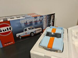1/18 rare acme 1968 chevrolet c-10 in gulf racing livery mint condition,