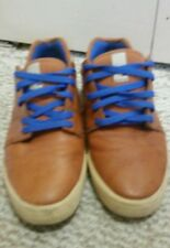 DC Life Collection Brown Leather Skateboard Fashion Sneaker Mens reset Sz 11.5