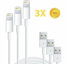 3X USB Lightning Cable Data Sync Charge Cord for Apple iPhone 5 5C 5S 6 7 Plus