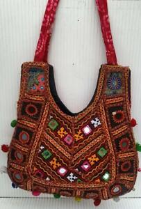 Indian Colourful Ethnic Mirror Work Embroidered Bags Indian Designs Bags
