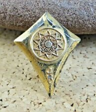 on Sterling Silver Lapel Pin #542 Rare Walther League Lutheran Yellow Gold