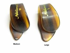 National Thumb Pick for Guitar or Banjo Faux Tortoise Shell in Medium or Large