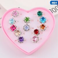 Box-packed Sweet Fancy Adjustable Rings Girls Pretend Play Toy Children Gift UK#