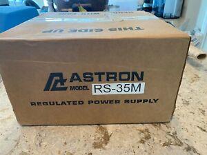 Astron RS-35M Desktop 13.8VDC Linear PSU with Meter NIB