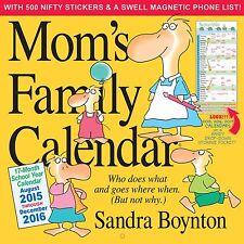 Mom's Family Wall Calendar 2016 by Sandra Boynton (Calendar – Wall Calendar) new