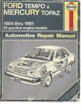 FORD TEMPO & MERCURY TOPAZ AUTO REPAIR MANUAL - 1984 - 1991 - #66123