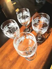 "Wine/Water Goblets, set of 4 holiday Snowflake design, very pretty set, 7"" tall"