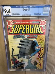 Supergirl #1 CGC 9.4 1972 Zatanna Backup Begins Near mint