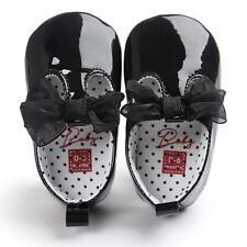 Baby Soft Sole Leather Shoes Newborn Girls Toddler Crib Moccasin  Prewalker