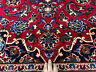 10x13 ANTIQUE HAND KNOTTED PERSIAN RUG RED WOOL navy blue oriental handmade 9x13
