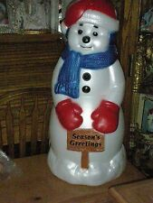 """""""EXTRA LARGE"""" SNOWMAN, OUTDOOR LIGHTED, BLOW PLASTIC OUTDOOR ORNAMENT, BRAND NEW"""