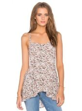 NWT Free People Jenna S Bustier Floral Tank Top Cami  M Criss Cross Lace Back