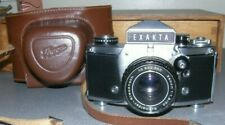 Vintage Vx 1000 Exakta Camera w/ lens & Iaghee leather case=Made in Germany