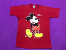 Mickey Mouse Red T Shirt Made In USA Size X/S Mens