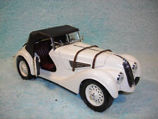 1/18 SCALE DIECAST 1940 BMW 328 CABRIOLET IN IVORY/BLACK TOP BY ROAD LEGENDS.