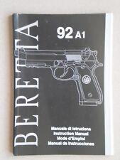 Beretta 92A1 92 A1 Operator 00006000 s Manual - Genuine Oem - New