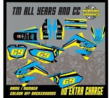 TM RACING  85 TO 450 FULL MOTOCROSS  GRAPHICS KIT MOTORCROSS ALL YEARS BLUE