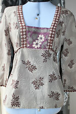 Monsoon Cotton Collarless Floral Tops & Shirts for Women