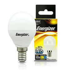Energizer 5.9 Watt LED SES E14 Small Screw Cap Energy Saving Light Golf Bulb 40w