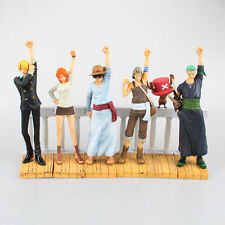 One Piece Sabo Luffy Zoro Nami Chopper Sanji Figures Theatre Figurine 6PCS New