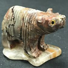 Rock Sculpture Baby Bear Home Decor Beautiful Granite/ Stone or Marble