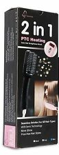 2-in - 1 Ionic Piastra per capelli spazzola di riscaldamento PTC capelli Raddrizzamento Ferri da Stiro 5 per