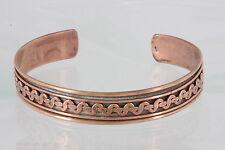 Costume Copper Embossed Design Cuff Bracelet Fashion 2379