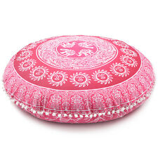 Cherry Red Throw Decorative Floor Pillow Cushion Cover Case Mandala- 32""